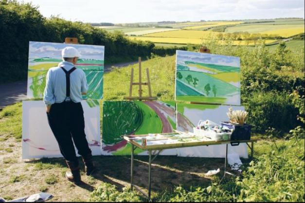 david hockney painting 'the road to thwing late spring' may 2006